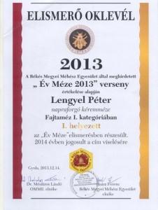 2013 év méze verseny
